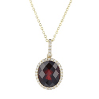 14k_yellow_gold_oval_checkerboard_garnet_pendant_with_diamond_halo_
