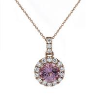 14k_rose_gold_round_lotus_garnet_&_diamond_halo_pendant