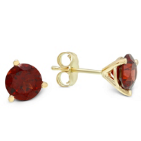 14K_Yellow_Gold_Round_Garnet_Stud_Earrings,_6mm
