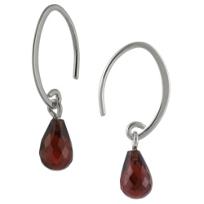 14K_White_Gold_Briolette_Garnet_Drop_Earrings