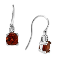 14K_White_Gold_Cushion_Garnet_and_Round_Diamond_Earrings