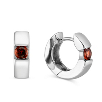 Sterling_Silver_Garnet_Hoop_Earrings