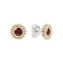 Lagos_Signature_Color_Sterling_Silver_&_18K_Yellow_Gold_Garnet_Earrings