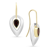 14K_Yellow_Gold_&_Sterling_Silver_Garnet_Flame_Drop_Earrings______