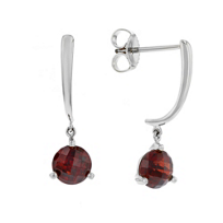14k_white_gold_round_checkerboard_garnet_dangle_earrings