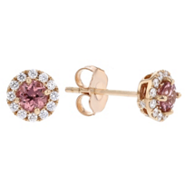 14k_rose_gold_round_lotus_garnet_&_diamond_halo_stud_earrings