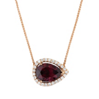 14K_Rose_Gold_Diamond_Halo_&_Rhodolite_Garnet_Sideways_Pear_Shaped_Pendant