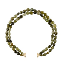 clara_williams_green_garnet_two_stranded_necklace,_16.5""