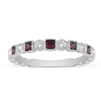 14K_White_Gold_Rhodolite_Garnet_&_Diamond_Geometric_Ring____