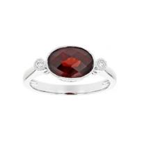 14k_white_gold_oval_checkerboard_garnet_and_diamond_milgrain_ring
