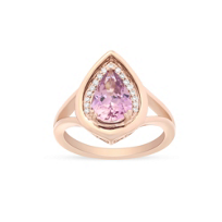 14k_rose_gold_pear_shaped_brownish_pink_garnet_&_round_diamond_ring