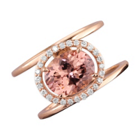 14K_Rose_Gold_Diamond_Halo_&_Oval_Pink_Garnet_Split_Ring_