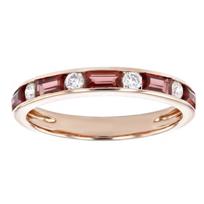 14k_rose_gold_baguette_garnet_&_round_diamond_alternating_channel_set_ring