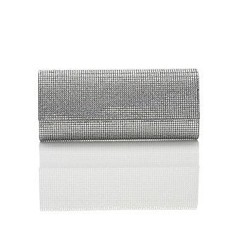 Judith Leiber Ritz Fizz Envelope Clutch, Silver
