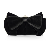 Judith_Leiber_Madison_Black_Velvet_Bow_Purse_with_Crystal_Clasp_and_Chain