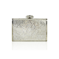Judith_Leiber_Herringbone_Tall_Slender_Rectangle_Clutch,_Silver