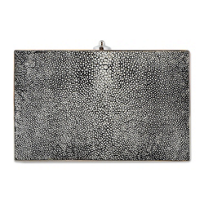 Judith_Leiber_Metallic_Stingray_and_Crystal_Ridged_Clutch
