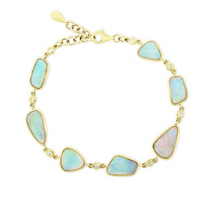 "14k_yellow_gold_7.5""_alternating_opal_&_round_diamond_bracelet"