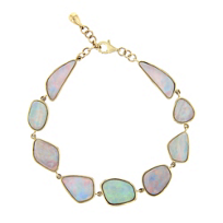 14k_yellow_gold_white_opal_bezel_set_bracelet,_7.5""