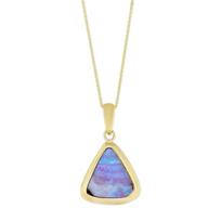 14K_Yellow_Gold_Boulder_Opal_Triangle_Pendant