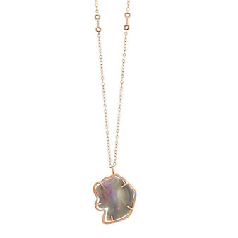 Melissa Joy Manning 14K Rose & Yellow Gold Free Form Boulder Opal Pendant