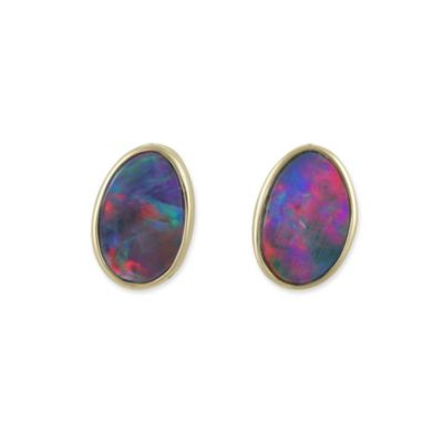 14K Opal Doublet Earrings