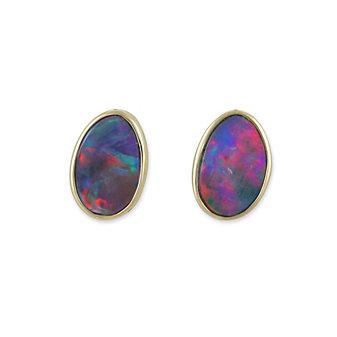 14K Opal Doublet Earrings