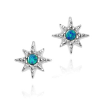 Anzie_Sterling_Silver_Opal_Doublet_Starburst_Stud_Earrings