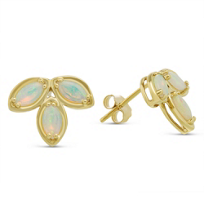 14K_Yellow_Gold_Opal_Cluster_Earrings