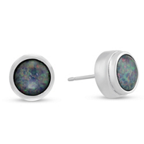 Sterling_Silver_Round_Cabochon_Imitation_Opal_Triplet_Earrings,_7mm