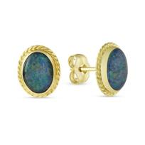 14K_Yellow_Gold_Oval_Triplet_Post_Earrings