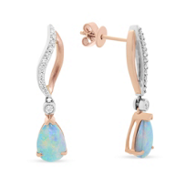 14k_rose_&_white_gold_pear_shaped_opal_&_diamond_drop_earrings
