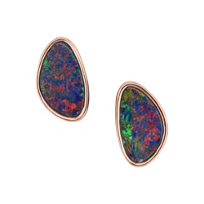 14K_Rose_Gold_Opal_Doublet_Bezel_Set_Earrings__________