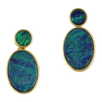 14K_Yellow_Gold_&_Opal_Doublet_Double_Drop_Earrings_____________