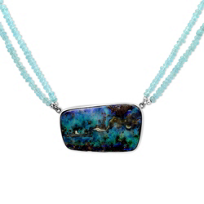Sterling_Silver_Boulder_Opal_Necklace_With_Apatite_Bead_Strands