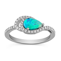 14K_White_Gold_Pear_Shape_Opal_and_Round_Diamond_Ring