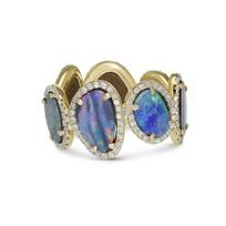 18K_Yellow_Gold_Boulder_Opal_&_Round_Diamond_Ring_______