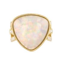 18k_yellow_gold_triangular_cabochon_opal_&_diamond_ring_