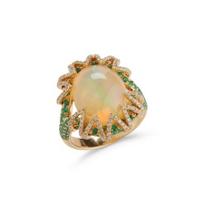 18k_yellow_gold_oval_cabochon_opal,_emerald_&_diamond_ring___________________