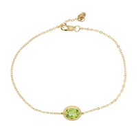 "14k_yellow_gold_oval_peridot_rope_bezel_set_bracelet,_7.5"""
