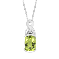 14K_White_Gold_Oval_Checkerboard_Peridot_and_Round_Diamond_Pendant