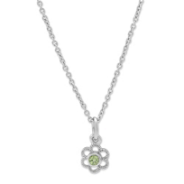 Sterling_Silver_Child's_Peridot_Flower_Pendant,_15""