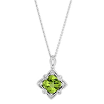 14K_White_Gold_Cushion_Peridot_and_Round_Diamond_Filigree_Pendant
