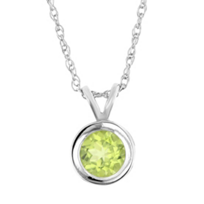 14k_white_gold_peridot_bezel_set_6mm_pendant,_18""