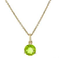 "14k_yellow_gold_round_peridot_solitaire_pendant,_18"""