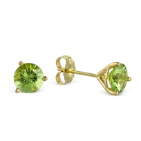 14K_Yellow_Gold_Peridot_Stud_Earrings,_6mm