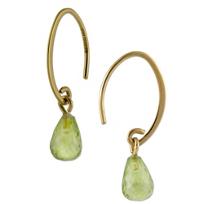 14K_Yellow_Gold_Small_Briolette_Peridot_Earrings