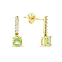 14k_yellow_gold_cushion_peridot_&_diamond_bar_drop_earrings