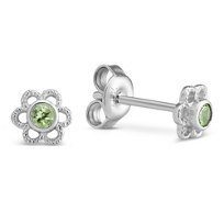 Sterling_Silver_Child's_Peridot_Flower_Earrings