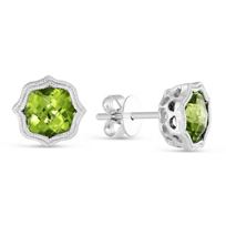 14K_White_Gold_Peridot_Citrine_Earrings_with_Double_Milgrain_Edge
